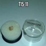 Moonstone natural mineral/gemstone specimen in display box #2